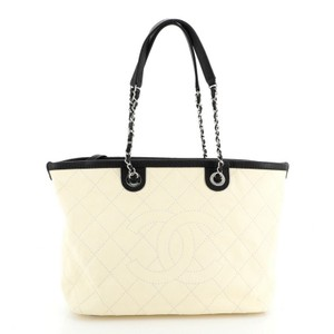 Chanel Leather Tote in Neutral