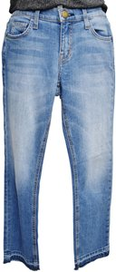 Current/Elliott Current/Elliott Light Wash Straight Ankle Cropped Relaxed Fit Jeans-Light Wash