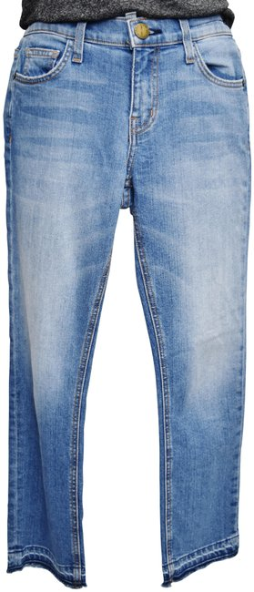 Item - Blue Light Wash  Cropped Straight Relaxed Fit Jeans Size 25 (2, XS)