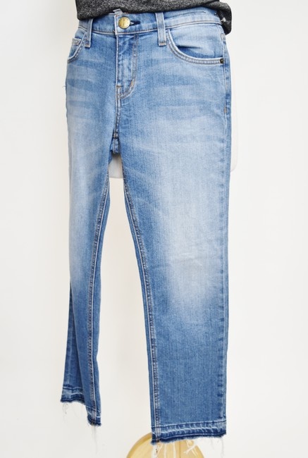 Current/Elliott Blue Light Wash Current/Elliott Cropped Straight Relaxed Fit Jeans Size 25 (2, XS) Current/Elliott Blue Light Wash Current/Elliott Cropped Straight Relaxed Fit Jeans Size 25 (2, XS) Image 2
