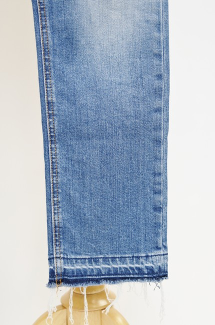 Current/Elliott Blue Light Wash Current/Elliott Cropped Straight Relaxed Fit Jeans Size 25 (2, XS) Current/Elliott Blue Light Wash Current/Elliott Cropped Straight Relaxed Fit Jeans Size 25 (2, XS) Image 9