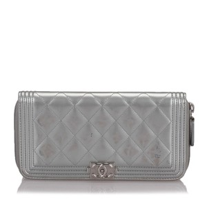 Chanel Chanel Leather Boy Long Flap Wallet