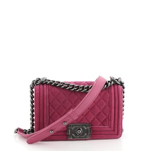 Chanel Flap Velvet Cross Body Bag