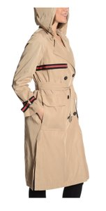 Rachel Roy Water-resistant Hooded Spring Jackets Double-breasted Trench Coat