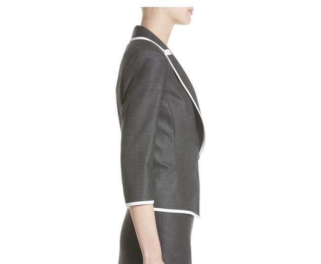 Item - Gray Stretch Birdseye Jacket In Blazer Size 2 (XS)