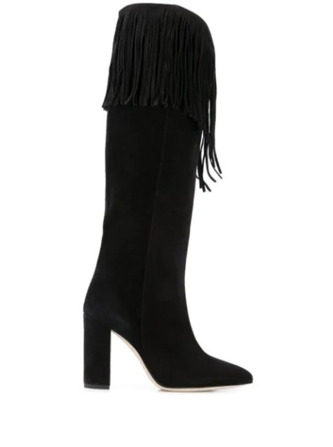 Item - Black Suede Fringe Boots/Booties Size EU 38.5 (Approx. US 8.5) Regular (M, B)