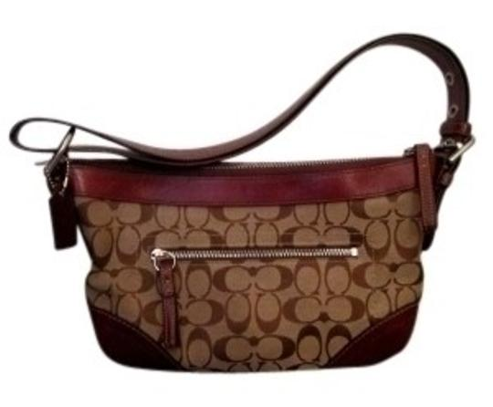 Preload https://item2.tradesy.com/images/coach-maroon-and-brown-leather-the-traditional-shoulder-bag-27361-0-0.jpg?width=440&height=440