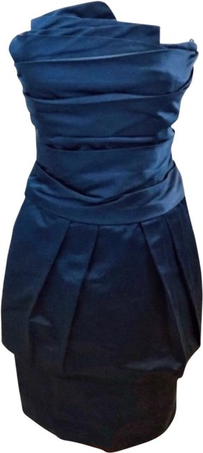 Item - Blue Midnight Pleated Strapless Short Cocktail Dress Size 4 (S)