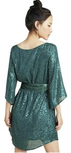 Anthropologie Sequin Belted Party Tunic Dress