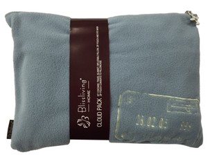 Bliss Living Home Fleece Satin Travel Set Sea Mist/Ivory Travel Bag