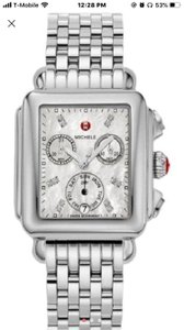 Michele Sliver Women's Deco Diamond Dial Stainless Steel Mww06p000014 Watch