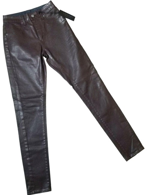 Item - Brown Coated Robin Power Stretch High Rise Skinny Jeans Size 25 (2, XS)