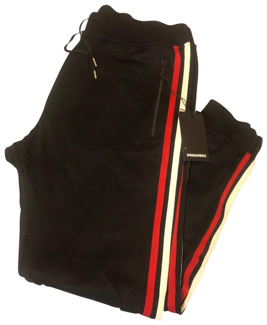 Item - Black with Red and White Stripe S74ka8026 Pants Size 12 (L, 32, 33)