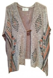 Vintage Havana Shawl Throw Aztec Triangle Patterns Sweater
