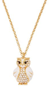 Kate Spade BRAND NEW Kate Spade Star Bright Wise Owl Pendant Necklace 14k Gold