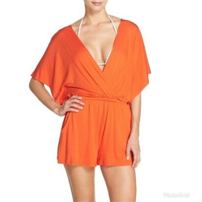 Item - Orange Jersey Gypsy Romper Cover-up/Sarong Size 12 (L)