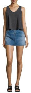 rag & bone Mini Denim Jean Mini Skirt Blue