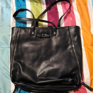 Candie's Tote in Black with pink lining