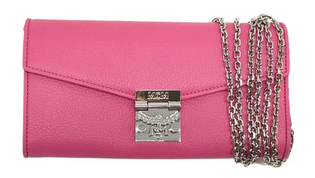 MCM Flap Two-fold Wallet-on-chain Patricia Park Avenue Pink Leather Cross Body Bag MCM Flap Two-fold Wallet-on-chain Patricia Park Avenue Pink Leather Cross Body Bag Image 1