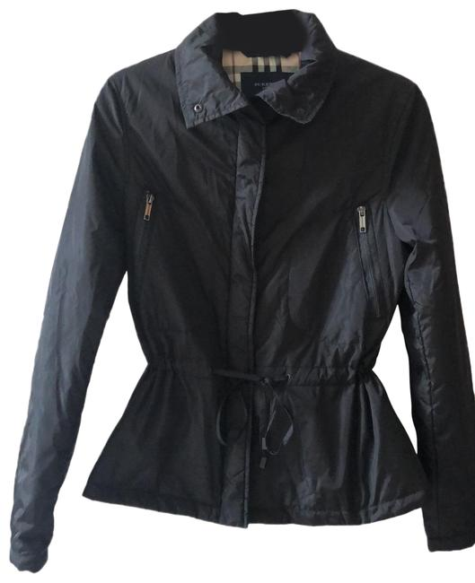 Item - Black with Classic Plaid Lining Jacket Size 8 (M)