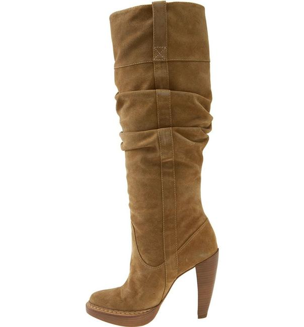 """Item - Tan Lucille Tall Suede """"Lucille"""" Heeled Boots/Booties Size US 10 Regular (M, B)"""