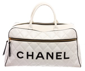 Chanel White Travel Bag