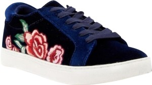 Kenneth Cole Reaction Fashion Sneakers Navy Blue Velvet Athletic