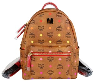 MCM Small Coated Canvas Multi-color Backpack