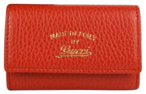 Gucci Women's Red Leather Trademark Key Ring Holder 354499 6516