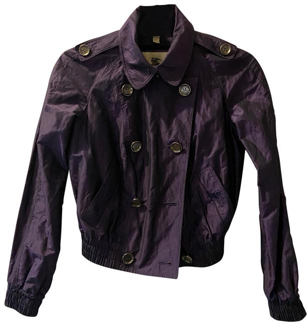 Burberry Purple 407 Jacket Size 2 (XS) Burberry Purple 407 Jacket Size 2 (XS) Image 1