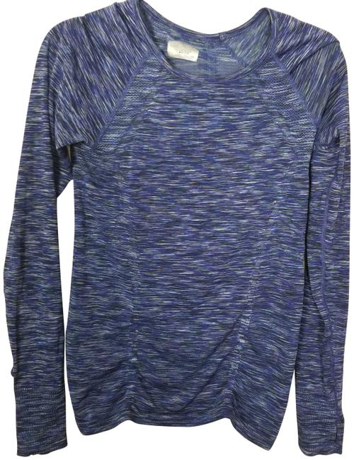 Item - Blue Fastest Track Space Dye Activewear Top Size 2 (XS)