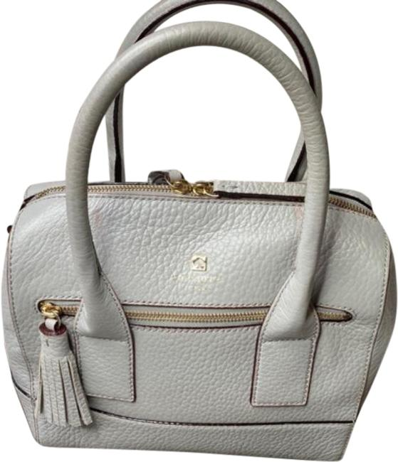 Item - Southport Avenue Alessa Gray Gold Leather Satchel