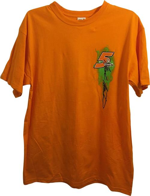 Item - Orange & Green Nascar Hendrix Motorsport Tee Shirt Size 10 (M)