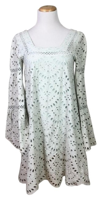 Item - Green White Hunter Mid-length Night Out Dress Size 2 (XS)