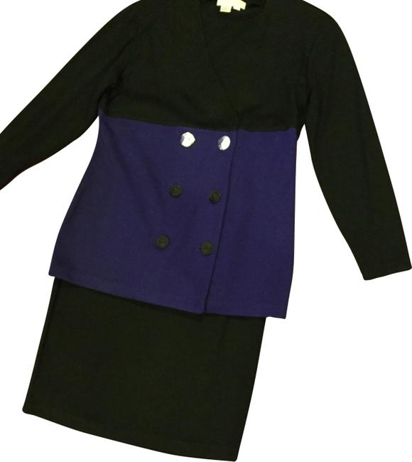 Item - Purple Black Ladies 2 Piece Set Skirt Suit Size 12 (L)