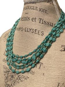 Miriam Haskell Miriam Haskell Signed Vintage Turquoise Glass Bead Necklace