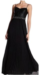 Laundry by Shelli Segal Gown Accordeon Skirt Evening Leather Evening Gown Dress