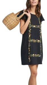 Anthropologie short dress Black Mini Floral Embroidered Ranna Gill Embroidered on Tradesy