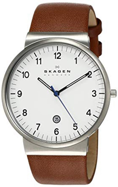 Item - Brown Men's Ancher Stainless Steel and Leather Quartz Skw6082 Watch