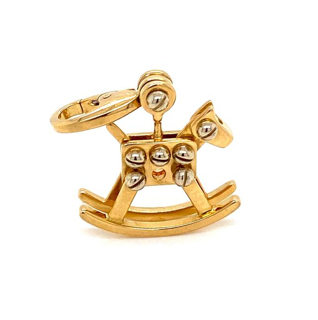 Cartier 21044 Rocking Horse 18k Two Tone Gold Pendant Charm Cartier 21044 Rocking Horse 18k Two Tone Gold Pendant Charm Image 1