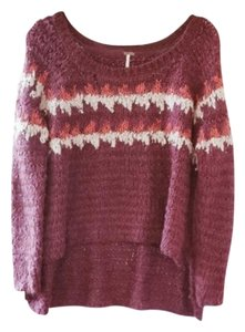 Free People Knit Patterned Scoop Neck Sweater
