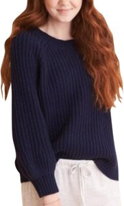 Aerie Knit Knit Navy Crewneck Sweater