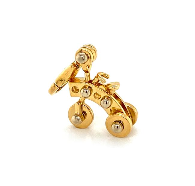 Cartier 21151 Movable Tricycle 18k Two Tone Gold Charm Cartier 21151 Movable Tricycle 18k Two Tone Gold Charm Image 1