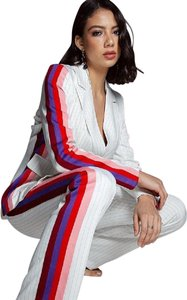 L'ATISTE Pin Striped Two Piece Pant Suit
