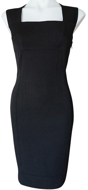 Item - Black Sleeveless Sheath Mid-length Night Out Dress Size 4 (S)