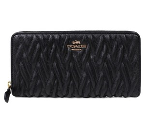 Coach ACCORDION ZIP WALLET IN GATHERED TWIST LEATHER (COACH F54003)