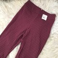 Free People Red Mari Striped Bell Pants Size 6 (S, 28) Free People Red Mari Striped Bell Pants Size 6 (S, 28) Image 3