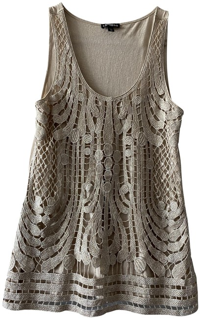 Item - Gold XS Nwot Women's - Lace Nude Beige New Tank Top/Cami Size 2 (XS)