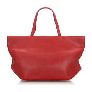 Celine 0cceto002 Vintage Leather Tote in Red