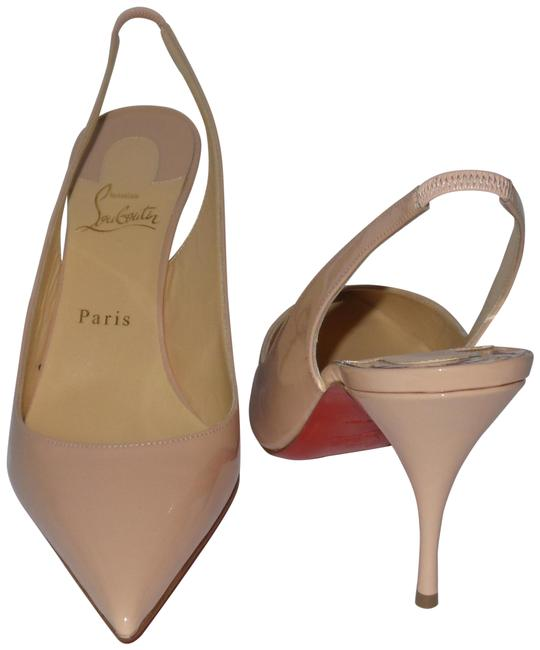 Item - Light Nude Clare Sling 80 Patent Antoinette Pumps Size EU 40 (Approx. US 10) Regular (M, B)
